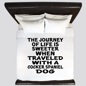 Traveled With Cocker Spaniel Dog Design King Duvet
